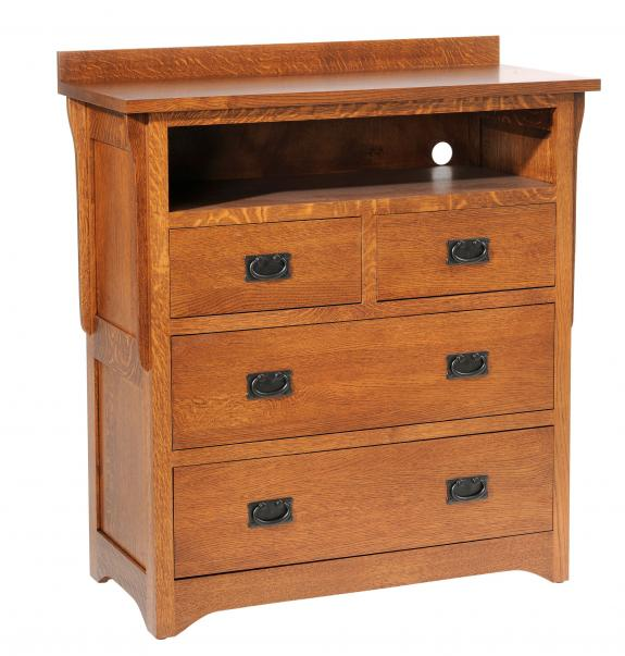 San Juan Mission Bedroom Collection Chest with TV Shelf