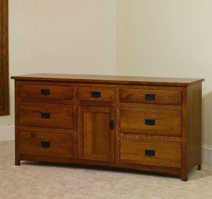 """Michael's Mission Bedroom Set MB2920 72"""" Dresser"""