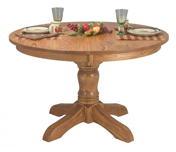 McKenzie Oak Pedestal Dining Table