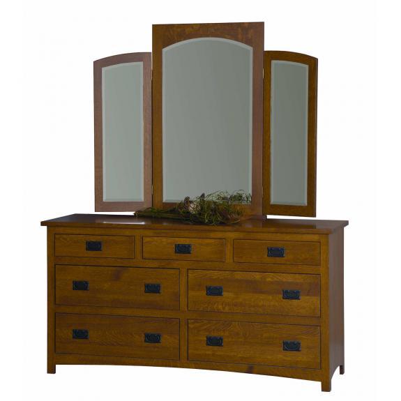 """Michael's Mission Bedroom Set MB2921 66"""" Dresser"""