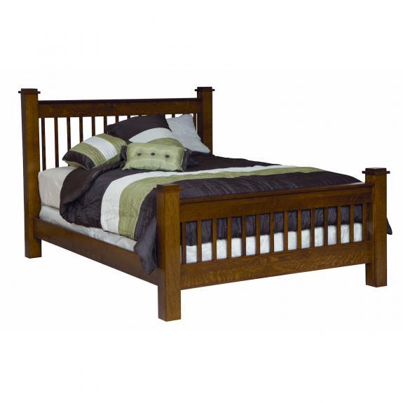 Michael's Mission Bedroom Set MB2910 Slat Bed