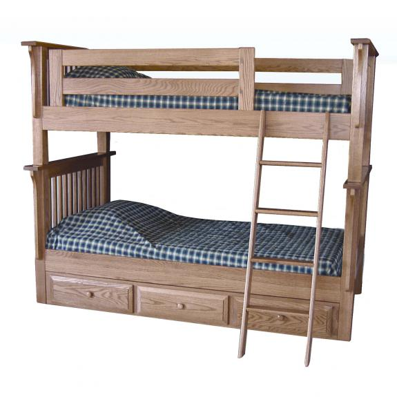 MBB-68 Mission Bunk Bed with Storage
