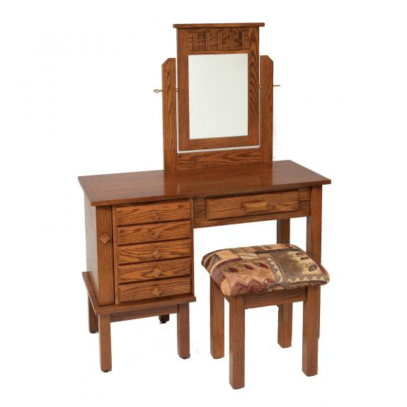 "42"" Mission Jewelry Dressing Table / Vanities"