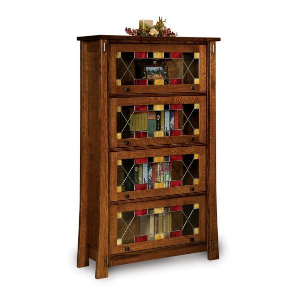 FVBR-4DR-MD Modesto Barister Bookcase