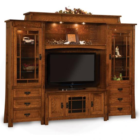 FVE-049-MD Modesto Six Piece Wall Unit