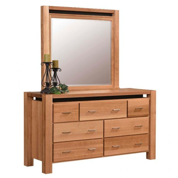 Nadine Contemporary Bedroom Set Nadine Double Dresser