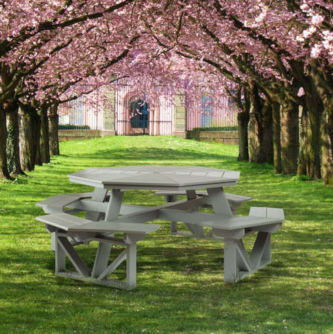 Octagonal Poly Picnic Table