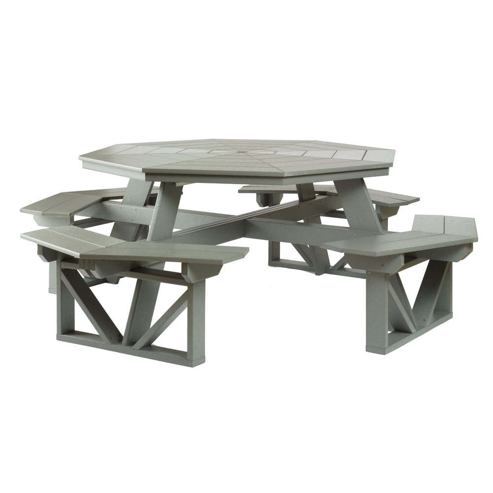 Octagon Picnic Table, Breakdown Model, Poly