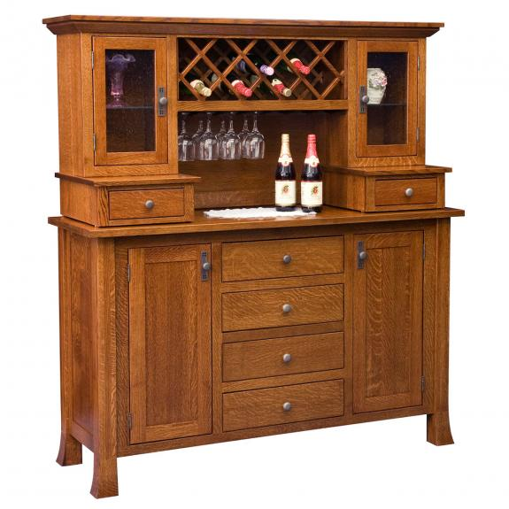 112 Old Century Wine Buffet with Hutch