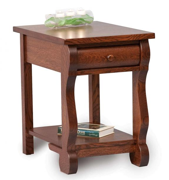 Old Classic Sleigh Occasional Tables End Table