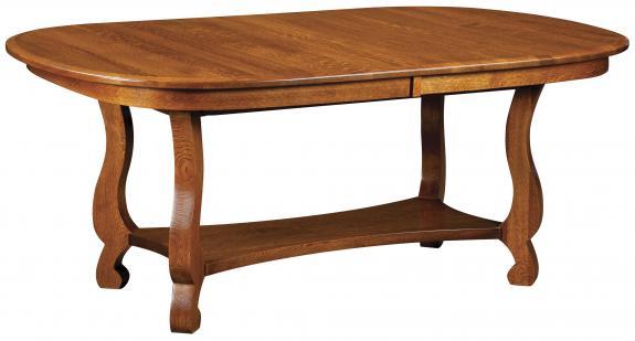 Olde Classic Sleigh Trestle Table
