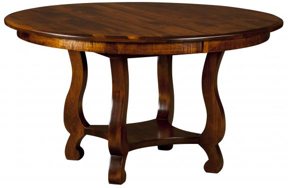 Olde Classic Sleigh Pedestal Table