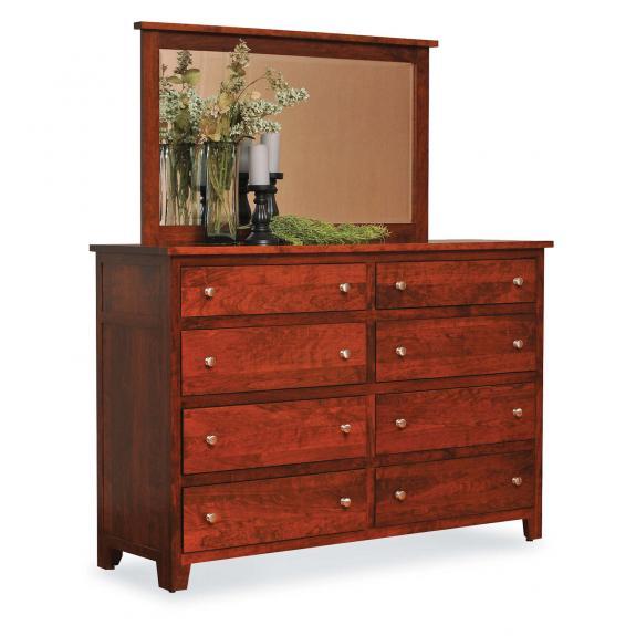 Olde Cottage Shaker Bedroom Set 8 Drawer Dresser