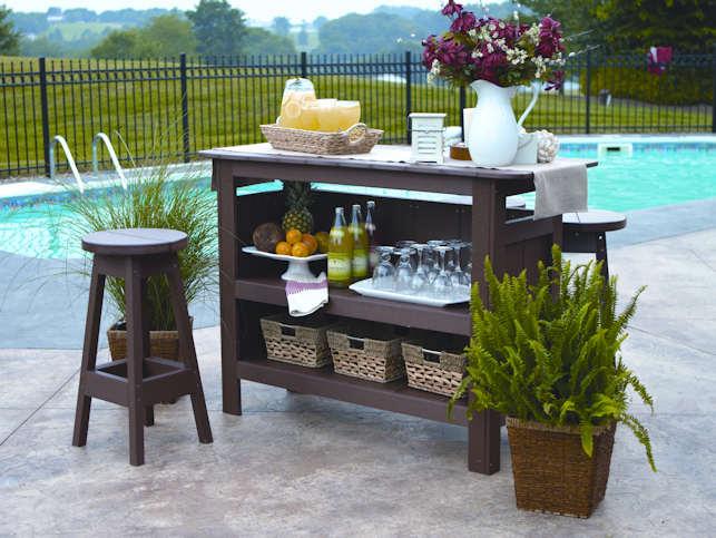 Outdoor Bar, Poly Lumber