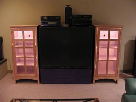 Custom Lighted Stereo Component Cabinet