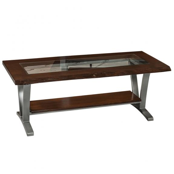 Pagosa Live Edge Occasional Tables P2448GLC Glass Top Coffee Table