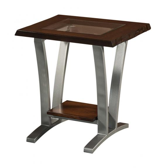 Pagosa Live Edge Occasional Tables P2224GLE Glass Top End Table