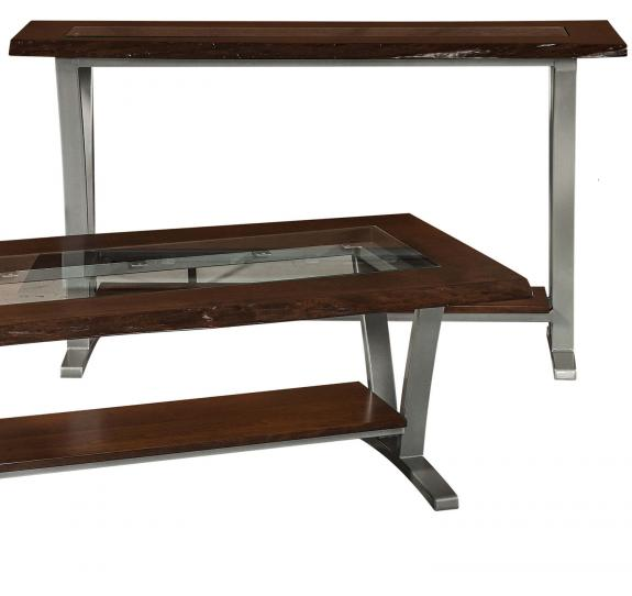 Pagosa Live Edge Occasional Tables P1654GLS Glass Top Sofa Table