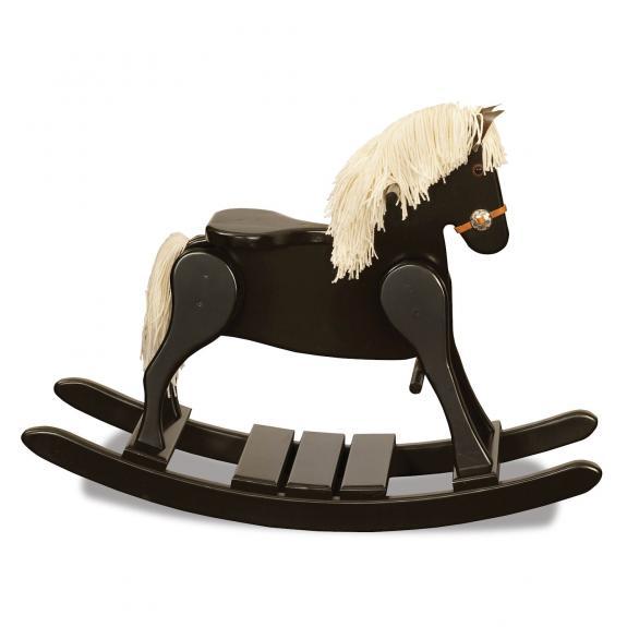 10-1 Black Painted Rocking Horse