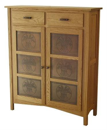 6 Tin Quarter Sawn Oak Pie Safe