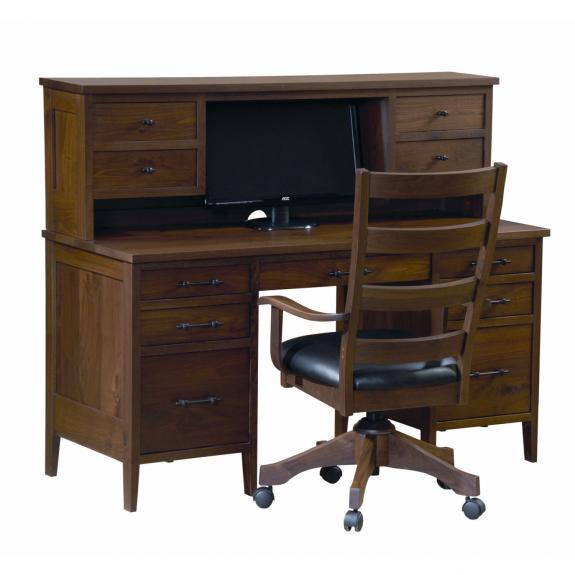 PD58H Pierre Computer Desk with Hutch