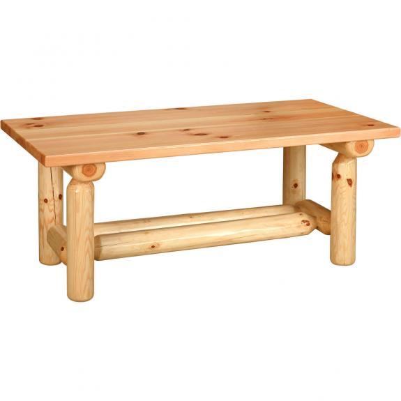 Pine Log Furniture Collection Log Coffee Table and Sofa Table