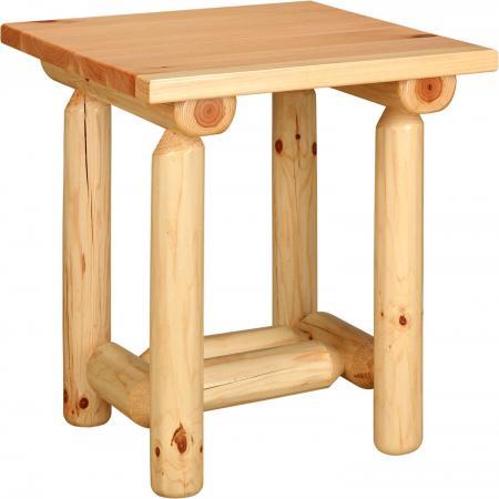 Pine Log Furniture Collection Log End Table