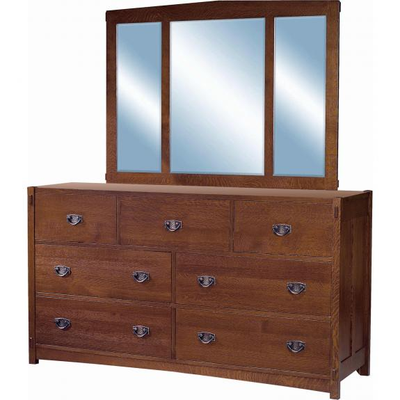 Post Mission Bedroom Set 7 Drawer Dresser