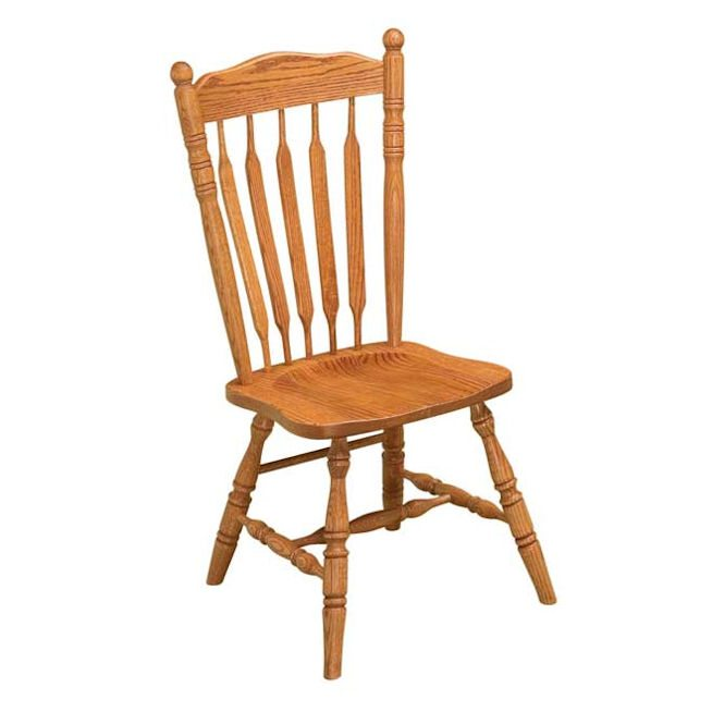 Post Paddle Oak Dining Chairs