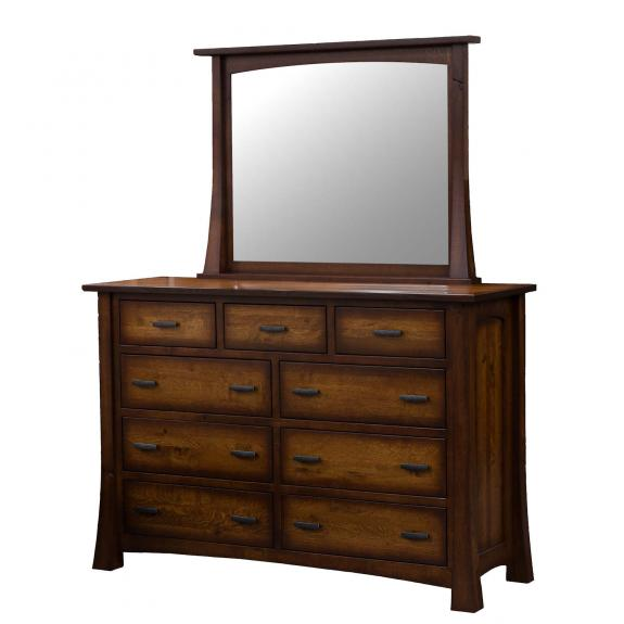 Princeton Bedroom Collection BPR-78 9 Drawer Solid Wood Dresser