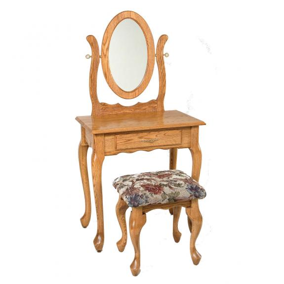 "29 1/2"" Queen Anne Dressing Table / Vanities"