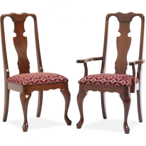 303/309 Queen Anne Fabric Dining Chair