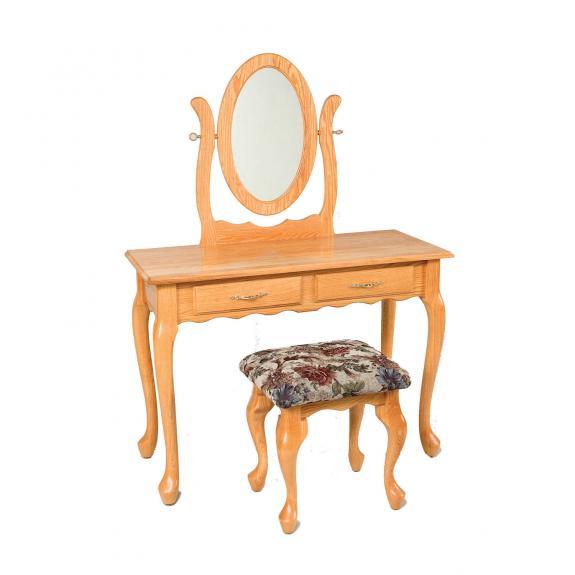 "42"" Queen Anne 2 Drawer Dressing Table / Vanities"