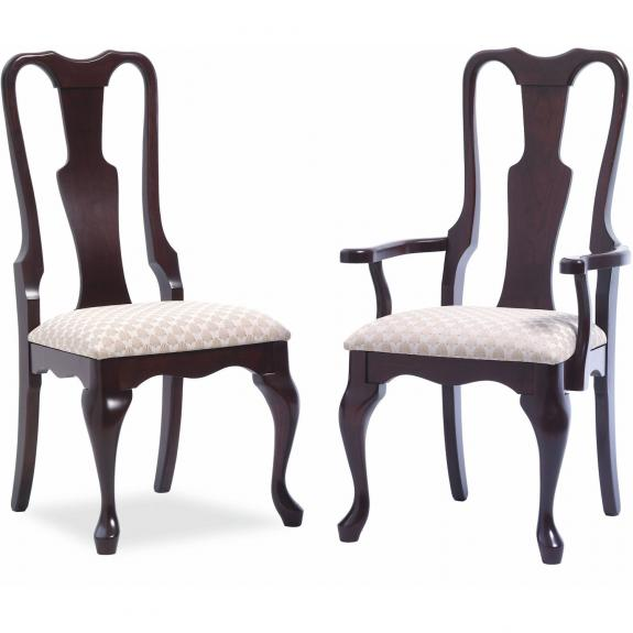 Queen Anne Dining Collection 606/609 Queen Anne Upholstered Dining Chair