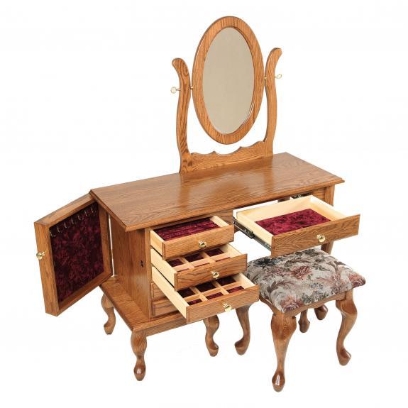 """42"""" Queen Anne Jewelry Dressing Table / Vanities"""
