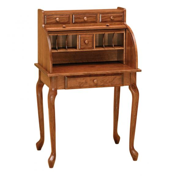 RW2014 Queen Anne Scretary Roll Top Desk