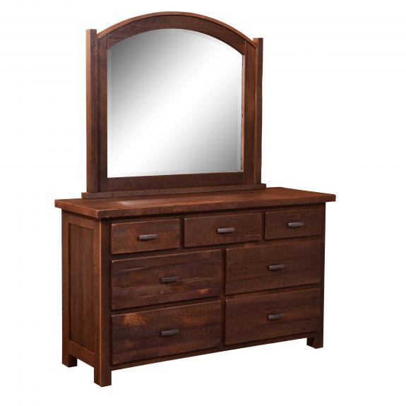 Quincy Barnwood Bedroom Collection 306 7 Drawer Dresser