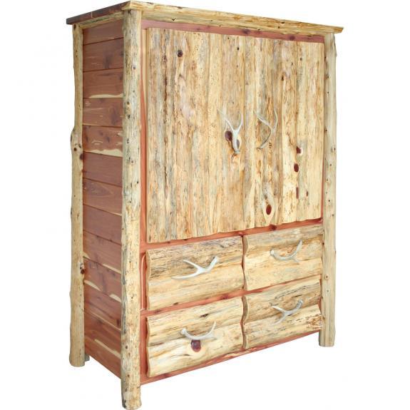 Red Cedar Log Bedroom Set Log Armoire