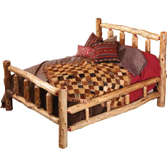 Red Cedar Log Bedroom Set King Size Log Bed