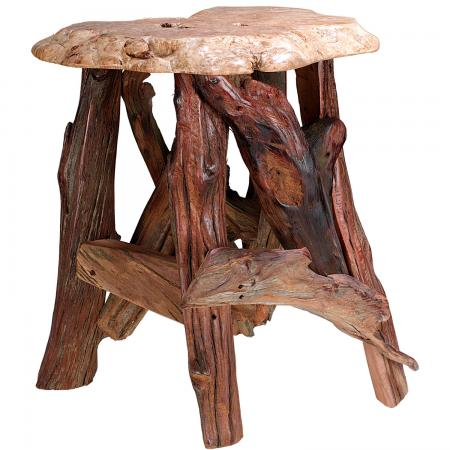 Rustic Stump / Burl Coffee Tables and End Tables Rustic Accent Table