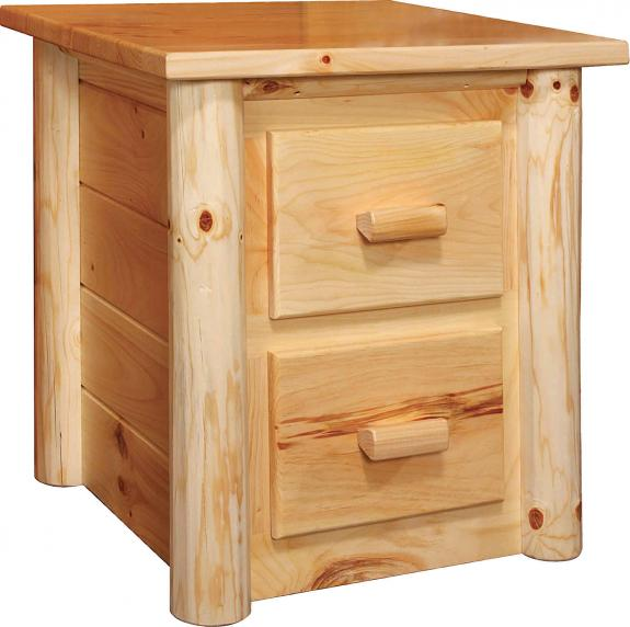 Rustic Pine Bedroom Set 2 Drawer Nightstand