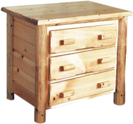 Rustic Pine Bedroom Set 3 Drawer Chest