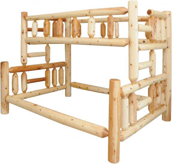 Rustic Pine Bedroom Set Loft Bed