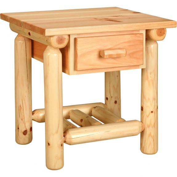 Rustic Pine Bedroom Set 1 Drawer Nightstand