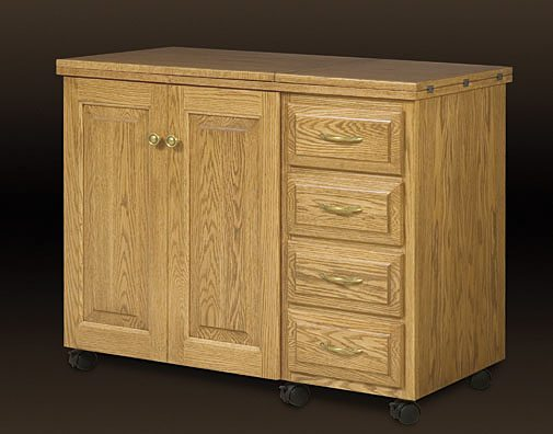 Oak Sewing Cabinet