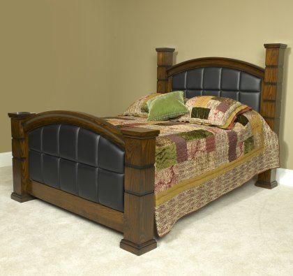 Stonehaven Bedroom Set Black Leather Bed