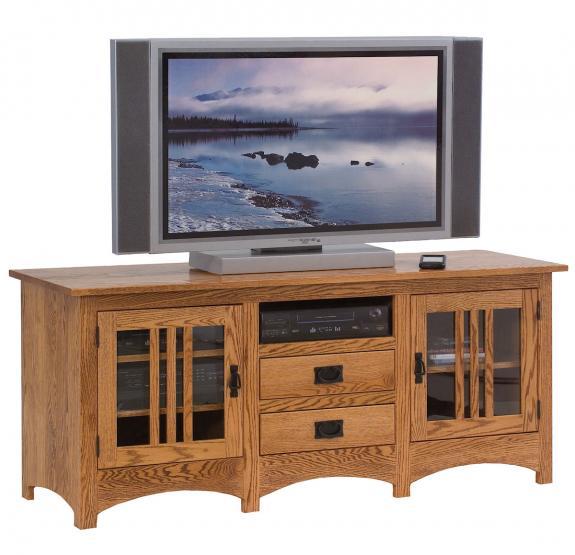 SWE-063-M Mission Oak Plasma TV Stand