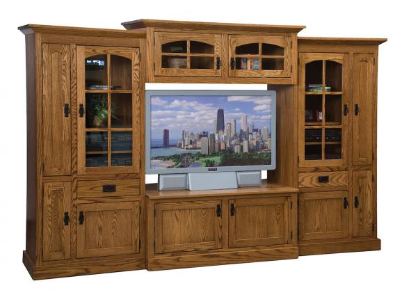 Mission 4 Piece Large TV Wall Unit