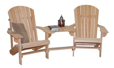 Adirondack Chairs with Turkey Tail Connector