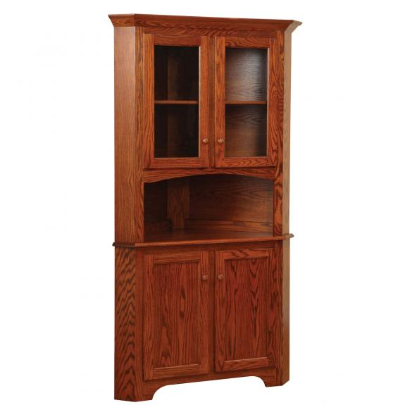 Corner Cabinet Dining Room Hutch: Shaker Dining Collection Shaker Corner Wood Hutch